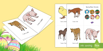 Spring Baby Animals Emergent Reader - emergent reader, emergent readers, emergent reading books, emergent reading texts, sight word reader