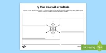 Map Ymchwil Y Celtiaid Taflen Weithgaredd - Dysgu Cymraeg fel Ail Iaith, map ymchwil, map meddwl, map Celtiaid, celtiaid,Welsh
