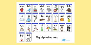 Lowercase and Precursive Alphabet Mat - lowercase, precursive, alphabet mat
