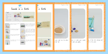 Seaside in a Bottle Craft Instructions - nz, new zealand, craft, instructions