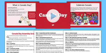 Canada Day Assembly Presentation - canada, Canada Day, Canada's Birthday, Confederation, History, Dominion Day, The British North America Act, The Constitution Act, Parliament, holiday