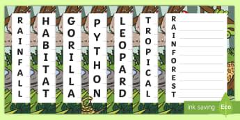 Rainforest Acrostic Poem - LIT, Literacy, creating texts, descriptive, poet, rain forest