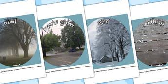 Ffotograffau 'Y Tywydd' - seasons, welsh