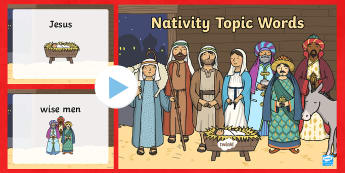 Nativity Topic Words PowerPoint