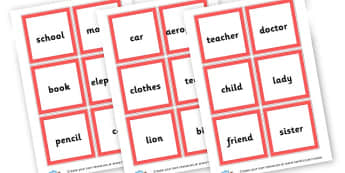 Noun Cards - KS2 Nouns, Words and Vocabulary, Literacy, KS2 English