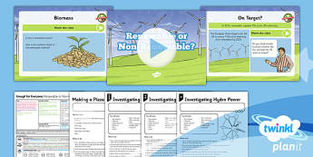 PlanIt - Geography Year 5 - Enough for Everyone Lesson 3: Renewable or Non-Renewable? Lesson Pack - geography, power, electricity, generation, renewable, green, eco