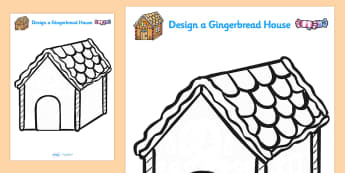 Design Your Own Gingerbread House - ginger bread, design, art