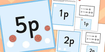 Workstation Pack 1p to 10p Money Matching Cards