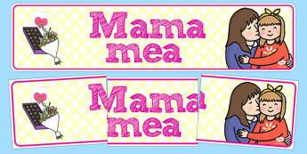Mama mea - Banner