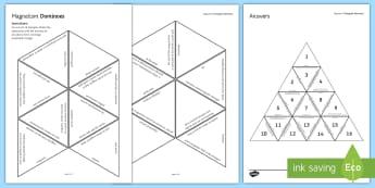 Magnetism Tarsia Triangular Dominoes - Tarsia, Magnetism, Magnet, Magnetic, Magnetic Field, Dominoes, Electromagnet