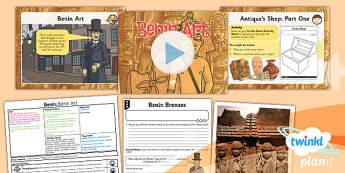PlanIt - History UKS2 - Benin Lesson 3: Benin Art Lesson Pack