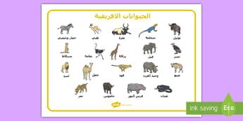 الحيوانات الافريقية - حيوانات افريقيا, سفاري,Arabic