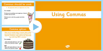 Using Commas PowerPoint - commas, powerpoint, use, punctuation