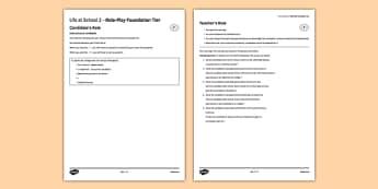 La vie scolaire2 Jeu de rôle Foundation Tier - Role Play, Foundation, School, Collège