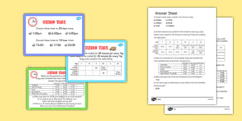 Using Time Maths Challenge Cards - time, clocks, maths, numeracy