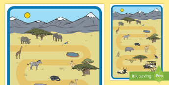 Safari Role-Play Map - EYFS, Early Years, Early Years planning, Key Stage 1, KS1, safari, Africa, animals, role play,