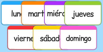 Days of the Week Flashcards Spanish - spanish, days of the week, days, week, flashcards, flash cards