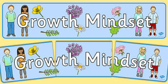 Growth Mindset Display Banner - growth, mindset, display banner