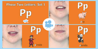 Phase Two Phonemes: Set One: 'p' Video - Phonics, satpin, Letters, Sounds, Satp, satpin