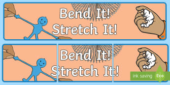 Bend It! Stretch It! Year 1 Chemical Sciences Display Banner - Science, primary connections, physical science, chemical, grade 1, year 1, science journal, cover pa