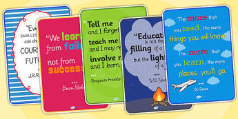 Classroom Learning Inspirational Quote Posters - classroom learning, inspirational quote, inspiration, posters, classroom posters, inspirational posters
