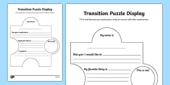 Transition Puzzle Display Poster