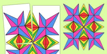 Large Rangoli Pattern Template - template, pattern, rangoli