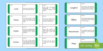 Counties of Ireland Loop Cards - Counties of Ireland, loop, game, general knowledge, leinster, munster, connacht, ulster,Irish