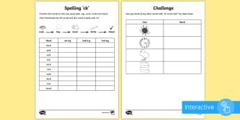 Year 1 Spelling Practice 'ck' Go Respond Activity Sheet - ks1, English, year 1, practice, home learning, home work, homework, Worksheet, practise, SPaG, spell