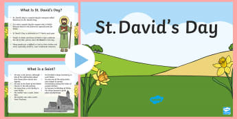 St David's Day Assembly PowerPoint - Dewi Sant (St David's Day 1.3.17),Welsh, assembly, Saint David, St David, St. David.