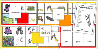Park Lotto Game - park, lotto, game, eal, activity, lotto game