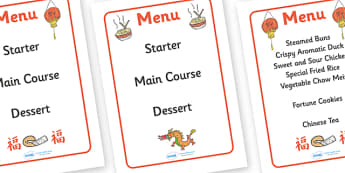 Australia Chinese Restaurant Takeaway Menu - Chinese restaurant, menu, restaurant, Chinese new year, dragon