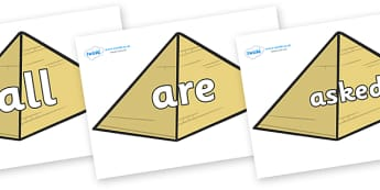 Tricky Words on Pyramids - Tricky words, DfES Letters and Sounds, Letters and sounds, display, words