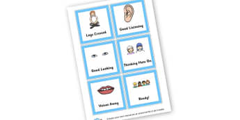 Carpet Signs - Rules & Behaviour Primary Resources, golden time, routines, reward