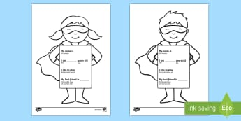 All About Me Superhero Writing Template English/Romanian - Ourselves, All about me, family, Ks1, Y1, Year 1, EYFS, Reception, Growing, growth, Romanian-transla