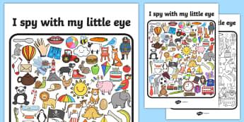 Phase 2 I Spy With My Little Eye Activity - phase 2, I spy, game
