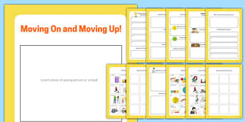 Moving On and Moving Up Book - transition, independence, change, ks2, ks3, primary, secondary, new school, new starters, progression