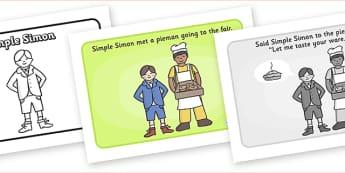 Simple Simon Sequencing - Simple Simon, sequencing, nursery rhyme, rhyme, rhyming, nursery rhyme story, nursery rhymes, Simple Simon resources
