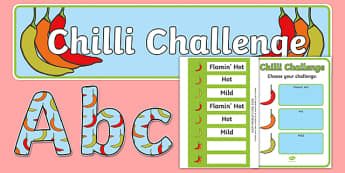 Chilli Challenge Display Pack - chilli challenge, display pack, display