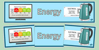 Energy Display Banner - energy, display banner, display, banner, science