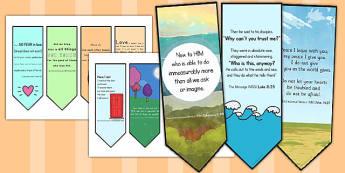 New Testament Bible Scripture Motivational Bookmarks - bookmarks