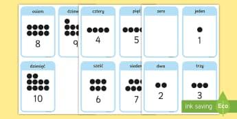 Karty Liczby od 1 do 10 - karty, liczby, cyfry, liczenie, matematyka, jeden, dwa, trzy, zero, przedszkole, zerowa, zero, karci