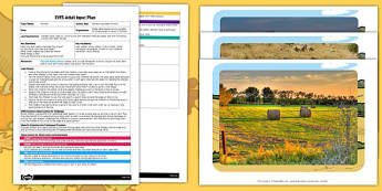 Harvest Hay Bales Activity EYFS Adult Input Plan and Resource Pack