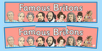 Famous Britons Display Banner - famous britons, display banner, display, banner, famous, britons, brits