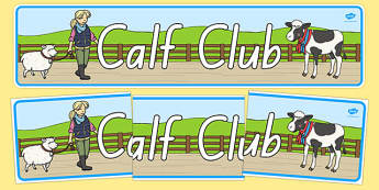 Calf Club Display Banner