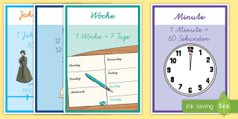 Zeiteinheiten Posterkollektion für die Klassenraumgestaltung - Units Of Time Display Posters - units of time, display, poster, sign, units, unit, time units, time,
