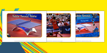 The Olympics Table Tennis Display Photos - Table Tennis, Olympics, Olympic Games, sports, Olympic, London, 2012, display, photo, photos, poster, sign, banner, activity, Olympic torch, events, flag, countries, medal, Olympic Rings, mascots, flame, com