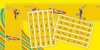The Olympics Artistic Gymnastics Display Borders - olympics, artistic gymnastics, artistic, gymnastics, display border