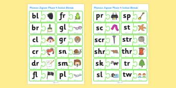 Phonics Jigsaw Phase 4 Initial Blends - phase 4, phase four, phases, phonics, jigsaw, phonics jigsaw, phonics games, phonics activites, games, activities