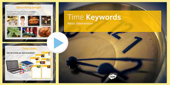 Maths Intervention Time Keyword PowerPoint - SEN, special needs, intervention, maths, measure, time